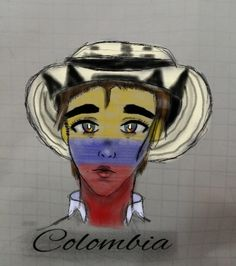 #colombia #countryhumans #colombiacountryhumans Chile, Baseball Cards, Manga, Country, Memes, Cute Drawings, Countries, Colombia, Rural Area