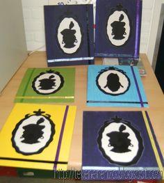 Benodigdheden:    schildersdoek    acrylverf    lint    zwart papier    schaar    lijm    patroon Piet       Print het silhouet en bepa...