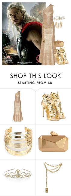 """""""Thor"""" by myamane ❤ liked on Polyvore featuring Hervé Léger, Giuseppe Zanotti, WithChic, Armitage Avenue, Monsoon, Moschino, thor and chrishemsworth"""