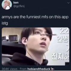 Bts Funny Videos, Bts Memes Hilarious, Funny Tweets, Bts Bangtan Boy, Bts Jimin, Jungkook Funny, V And Jin, Bts Love, Frank Iero