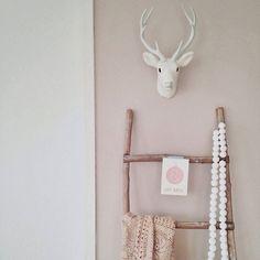 decoratieve ladder teak, xenos 30 euro (misschien wit maken, Deco ideeën