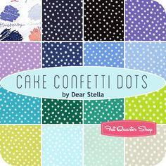 Cake Confetti Dots Fat Quarter Bundle Dear Stella Fabrics  Has a few purples...