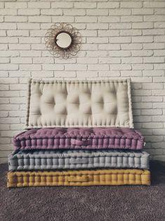 Sleep Number Mattress, Mattress Couch, Diy Mattress, Mattress On Floor, Mattress Sets, Sofa, Window Seat Cushions, Floor Cushions, French Mattress Cushion Diy