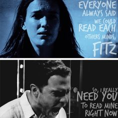 IM SCREAMING. Everyone said we could read each other's minds fitz, so I need you to read mine right now
