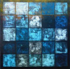 GRID #2, monoprint by Ruth Hesse