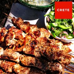 Pork souvlaki with cucumber salad and tzatziki by Yotam Ottolenghi | #ottolenghi http://www.pinterest.com/richtapestry/cooking-with-spices/
