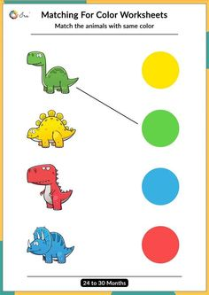 Printable Matching Colors Worksheets (24-30 Months) - Ira