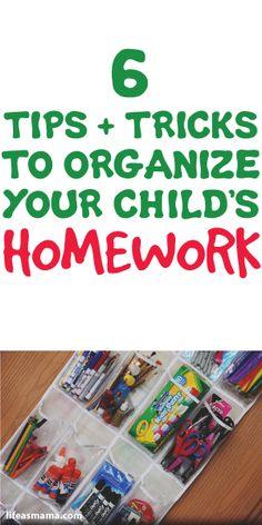 6 Tips & Tricks To Organize Your Child's Homework
