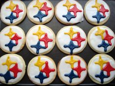 Pittsburgh Steeler Logo Cut-Out Cookies- I am TOTALLY making these for football season!! I CAN'T WAIT!!