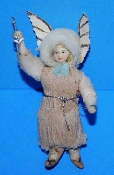 Antique German Cotton Scrap Angel Ornament   eBay