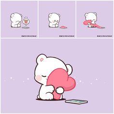 Cute Couple Comics, Cute Couple Cartoon, Cute Love Cartoons, Cute Comics, Cute Bear Drawings, Cute Cartoon Drawings, Cute Kawaii Drawings, Cute Love Gif, Cute Love Songs
