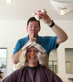 David Sutton of d b sutton & co adds the secret ingredient of Love to make Edie's hair even more beautiful!