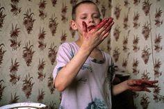 "gorillka: "" Yakovlev Family, 1993. Moscow, Russia. Lise Sarfati. """
