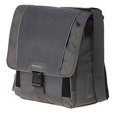 31 x 15 x 29 cm Basil Unisexs Urban Load S Double Bag Black//Steel Grey