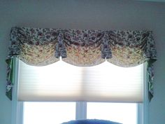 "Custom valance window treatment over a ""honeycomb"" cellular shade. This shade diffuses the sunlight. A ""black-out"" shade would block the sun. Decor, Honeycomb, Color, Home Decor, Blinds For Windows, Shades, Drapery, Blinds, Window Treatments"