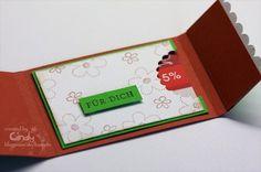 Gutscheinkarte mit Kartenfach