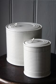 """ceramic """"tin cans"""" by Seletti"""