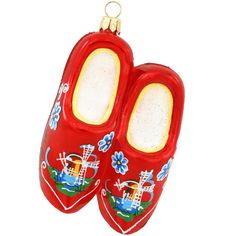 Dutch Wooden Shoes Glass Ornament $23.99