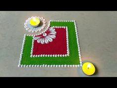 Diwali special easy and unique rangoli design - YouTube
