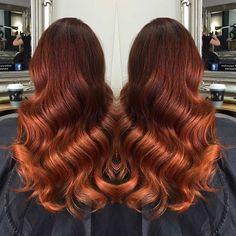 Dark Copper Balayage Hair