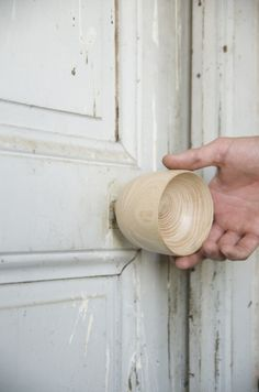 """""""The XXY Door Handle series by Valentín Garal is a series of decorative knobs made of solid wood created using hand-turning techniques. Each is handcrafted by request, made to the client's specifications. Wooden Door Knobs, Wooden Door Design, Wooden Doors, Timber Door, Wood Door Handle, Door Handles, Interior Door Knobs, Door Knobs And Knockers, Decorative Knobs"""