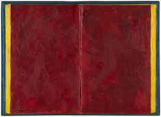 "Jasper Johns: ""ookook"", 1957, book, encaustic, wooden shadowbox frame. Courtesy of Craig F. Starr Gallery."