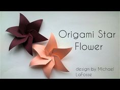 Today I will show you a very beautiful and at the same time simple in folding origami flower. Origami Star flower designed by Michael LaFosse. Origami Rose, Origami Ball, Rosa Origami, Instruções Origami, Origami Star Box, Origami Dragon, Origami Butterfly, Paper Crafts Origami, Origami Stars