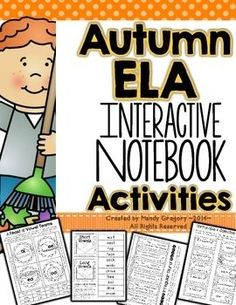 Fall ELA Interactive Notebook for Second GradeI created this pack to supplement your ELA curriculum for the Fall. Twenty-three different activities are included, with sample photographs for students to see the final product. Some of the activities are open ended and can be used with any text.