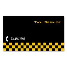 Checkered Stripe Taxi/Limo Service Business Card. I love this design! It is available for customization or ready to buy as is. All you need is to add your business info to this template then place the order. It will ship within 24 hours. Just click the image to make your own!