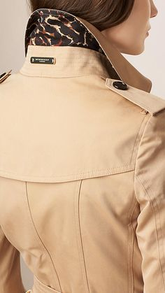 Miel Trench-coat en gabardine de coton avec ornements léopard - Image 5