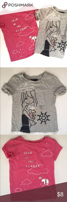 GAP Graphic T Bundle-XS Two Graphic T's by Gap, both in excellent condition as my daughter barely got to use before she grew out of them. Size XS (4/5). GAP Shirts & Tops Tees - Short Sleeve