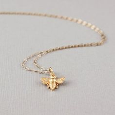Tiny Gold Bee Necklace!  Call A1 Bee Specialists in Bloomfield Hills, MI today at (248) 467-4849 to schedule an appointment if you've got a stinging insect problem around your house or place of business! You can also visit www.a1beespecialists.com!