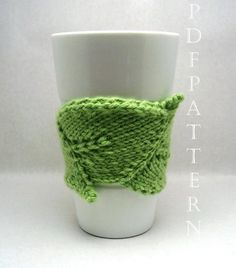 Knitting Ideas | Project on Craftsy: Leaf Cup Cuddler