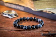 8mm  onyx noir mat brillant onyx et Pierre perles bracelet