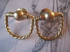 1 Pair Small  Brass Drawer Pull Fittings Jewerly by StarPower99, $2.80