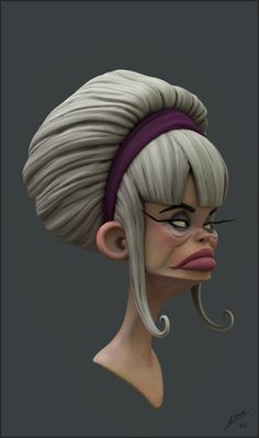 ArtStation - Cartoony woman, David Arberas