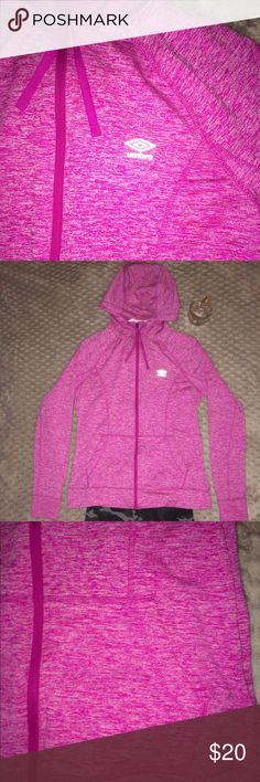UMBRO Pink Zip-Up Hoodie Very cute for the gym/working out. Only worn once! In like-new condition. Trying to clear some space in my closet, please help!! Just ask if you would me to model this or if you need any measurements ❤️ Open to reasonable offers always, and please bundle to your heart's content :) Umbro Jackets & Coats