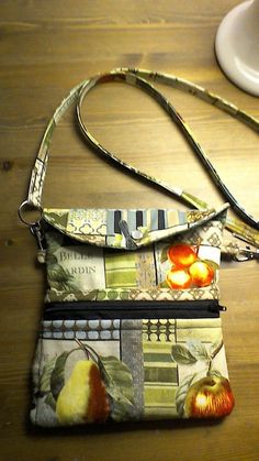 Tablet pouch with strap, whimsical fruit  | eBay