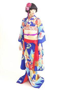 kimono love her hair with the kimono