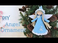 Christmas Angels, Christmas Crafts, Christmas Decorations, Christmas Ornaments, Holiday Decor, Diy Angels, Blue Angels, Clothespin Dolls, Angel Ornaments