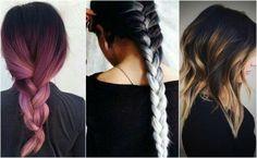 Fryzury ombre dla ciemnych włosów #fryzuryombre #włosyombre #włlosy #ombre