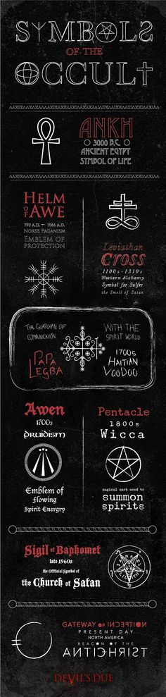 Occult Symbols. Eeshhh! Pretty creepy! Definitely gonna keep an eye out for that…