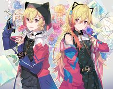anime girl, art, and beautiful image Couple Anime Manga, Anime Oc, Kawaii Anime, Vocaloid, Anime Figures, Anime Characters, Anime Siblings, Fan Art Anime, Cute Anime Coupes