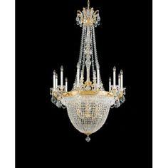 Schonbek La Scala Empire 22 Light Crystal Chandelier Finish / Crystal Color: Etruscan Gold / Strass Clear