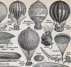 Balloon Zeppelin Dirigible French Dictionary di SurrenderDorothy, $18.89