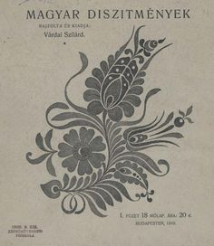 Folk Embroidery Ideas Magyar díszítmények - full book, 19 pages. Hungarian Embroidery, Folk Embroidery, Learn Embroidery, Chain Stitch Embroidery, Embroidery Stitches, Embroidery Designs, Stitch Head, Lesage, Looks Vintage