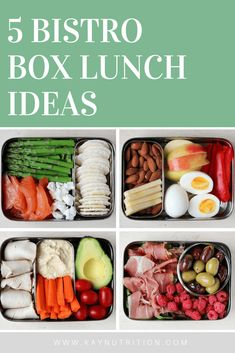 5 Bistro Box Lunch Ideas #bistrobox #bentobox #lunch #healthylunch #mealprep