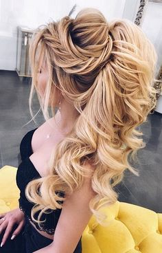 Elstiles long wedding hairstyles for the bride # Hairstyles Bridal Hair Updo, Wedding Hairstyles For Long Hair, Wedding Hair And Makeup, Formal Hairstyles, Bride Hairstyles, Cool Hairstyles, Hair For Bride, Hairstyle Ideas, Grecian Hairstyles
