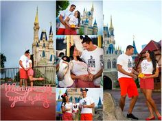 Adorable Pregnancy Announcement in Disney World!