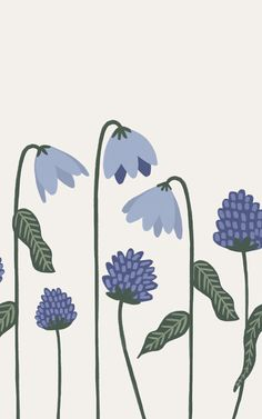 design wallpaper Incorporate our Bluebells Floral Wallpaper Mural into your childs playroom and they will love spending time in their very own cheerful space. The blues and greens in Cute Wallpapers, Wallpaper Backgrounds, Wallpapers Android, Posca Art, Pattern Illustration, Digital Illustration, Floral Illustrations, Botanical Art, Art Inspo
